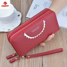 2019 Latest Women Wallet Female Long Leather Wallet Zipper Purse Clutch Money Phone Card Holder Female Change Wallets Carteras(China)