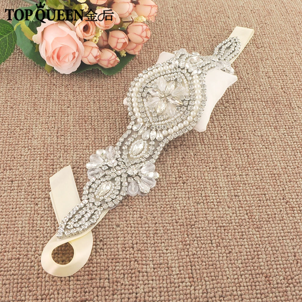 TOPQUEEN H231 Hot Sales Bridal Headbands Wide Wedding Hair Accessories With Crystals Bridal Headpieces Fast Shipping Stock