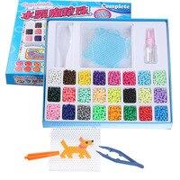 Aquabeads Perlen 24 Colors Aqua Beads Puzzles Toys Set Hama Beads Perler Beads Tangram Jigsaw 3d