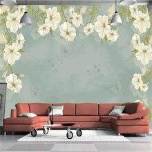 Свежий Европейский стиль цветочный фон со старой стеной на заказ high-end росписи Фабрика, обои настенные Фотообои