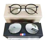 New York Brand Thom Eyeglasses Frames Or Sunglasses Men And Women Optiacl Eye Glasses TB710 Clip