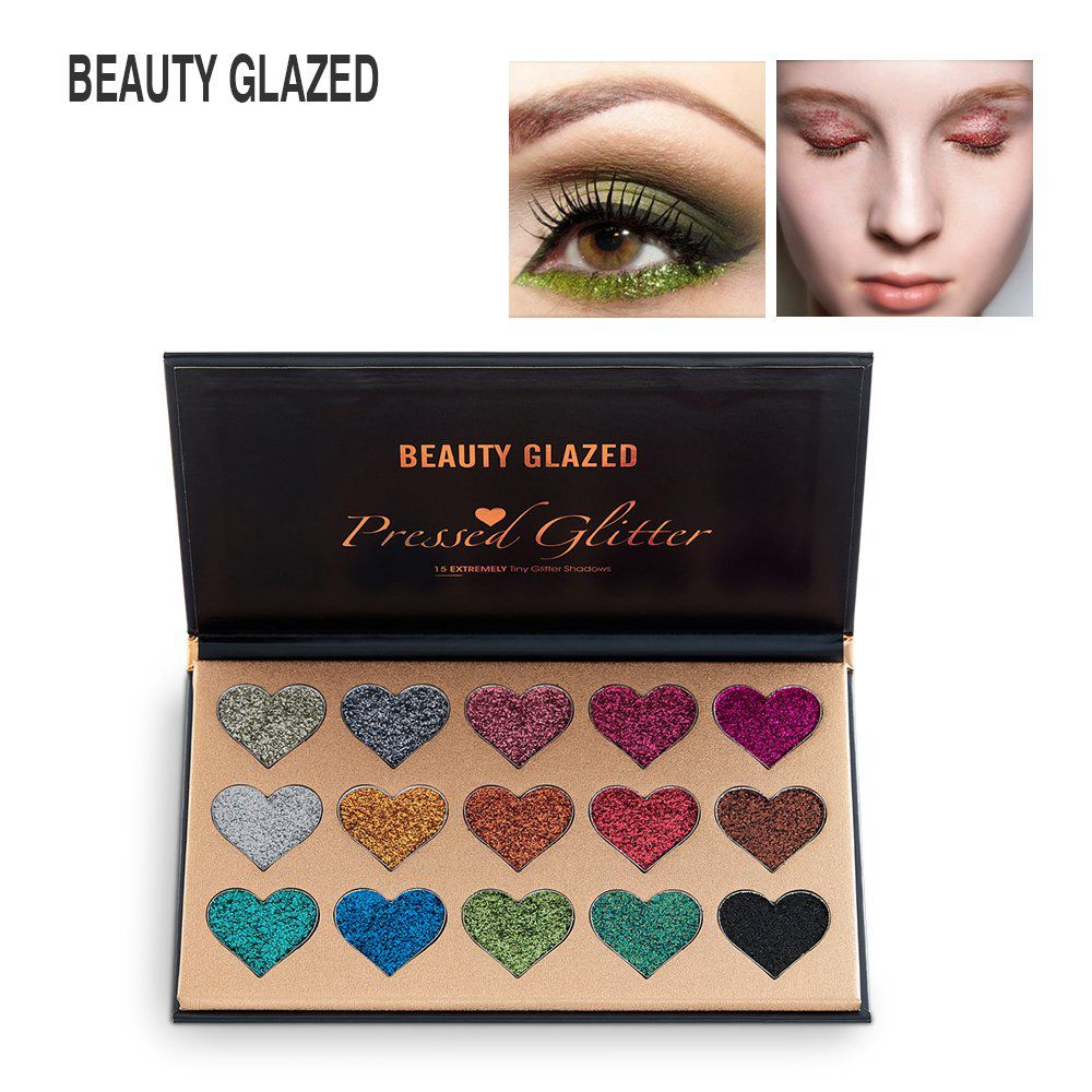 15 Colors Diamond Glitter Eyeshadow Palette Waterproof Professional Shimmer Eyeshadow Make up Palette Beauty Pigment Cosmetics in Eye Shadow from Beauty Health