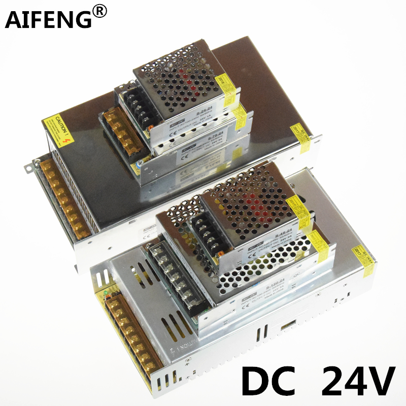 AIFENG DC 24V Switching Power Supply 600W 360W 120W 72W 48W 24W 24V Power Supply for LED Strip AC 110V/220V Input to DC 24V aifeng dc 24v switching power supply 1a 2a 3a 5a 15a 25a power supply switching power ac 110v 220v to dc 24v for led strip light