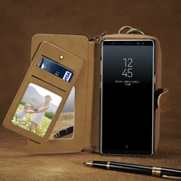 FLOVEME Phone Bag Case For Samsung Galaxy Note 8 S8 Plus Pouch Vintage Deluxe Leather Wallet