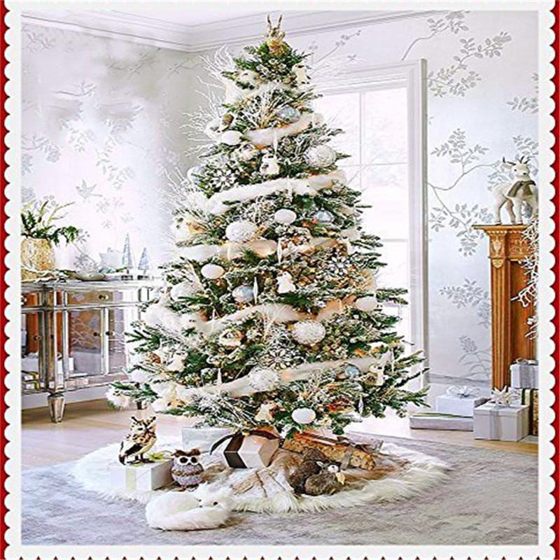 White Christmas Tre: High Quality 78CM Diameter Pure White Christmas Tree Skirt