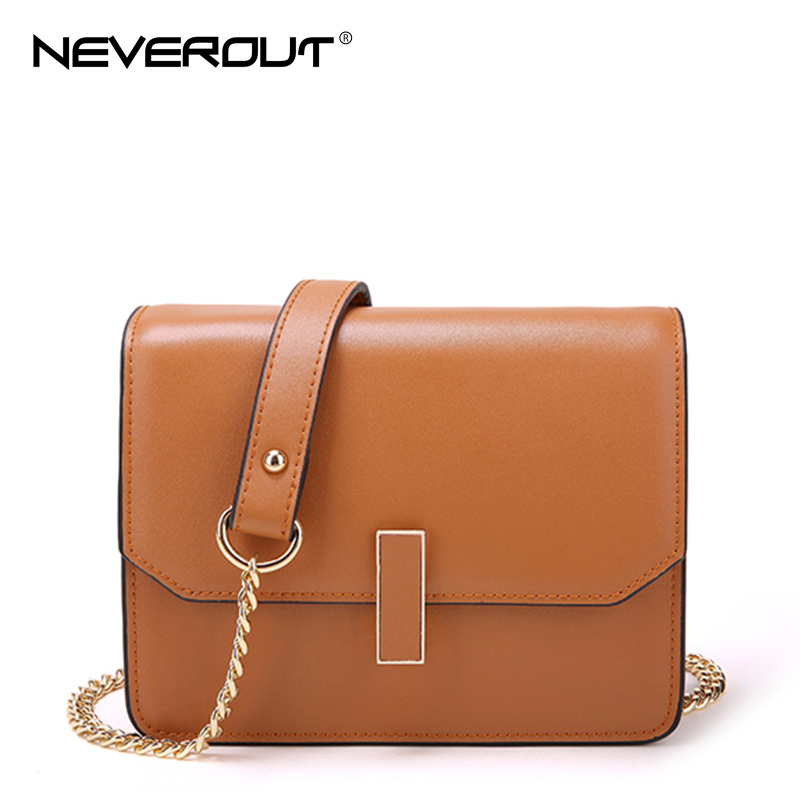 NeverOut 5 Color Split Leather Flap Shoulder Bags for Women Fashion Brand Design Messenger Bags Solid High Quality Crossbody Bag 2017 fashion all match retro split leather women bag top grade small shoulder bags multilayer mini chain women messenger bags