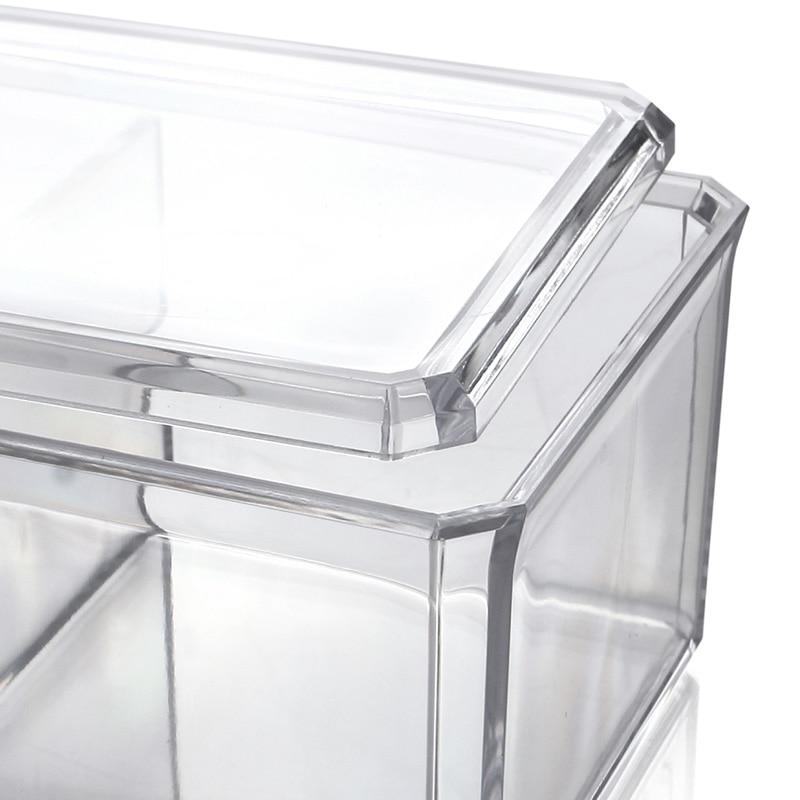 Gentil Clear Acrylic Cosmetics Organizer Cotton Swab Box Casket Makeup Organizers  Jewelry Storage Case Desktop Storage Bins Acrilico In Storage Boxes U0026 Bins  From ...