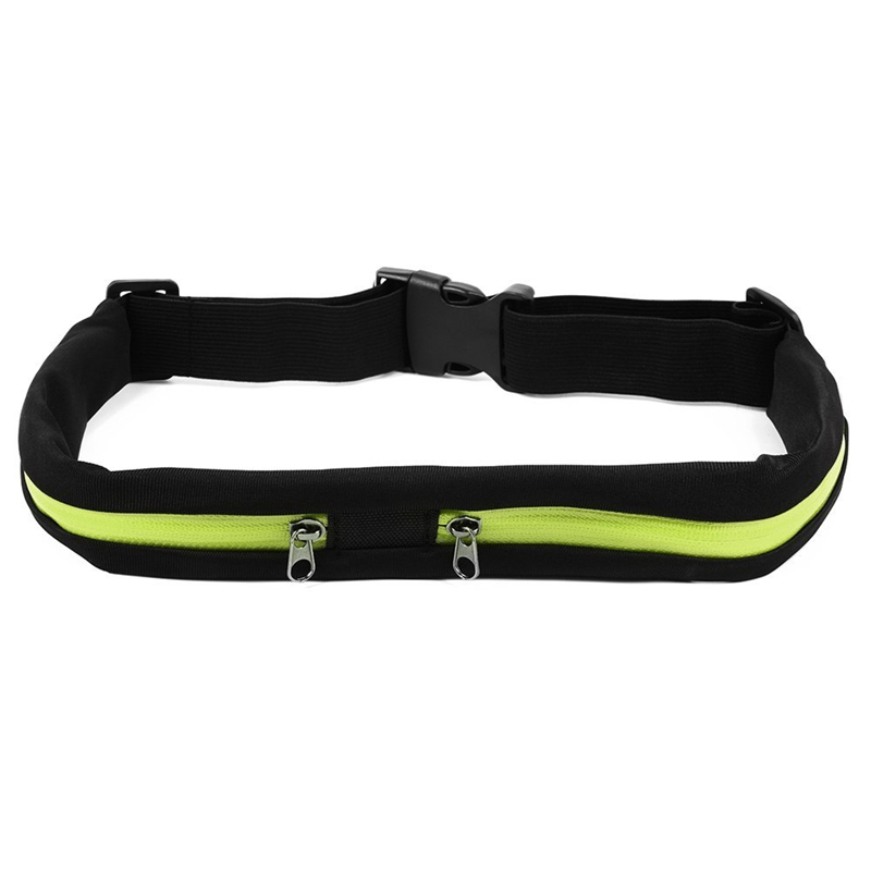 Outdoor Sports Waterproof Bag Flexible Waist Bike Riding Belt Pocket Double Pocket For IPhone Android Phone
