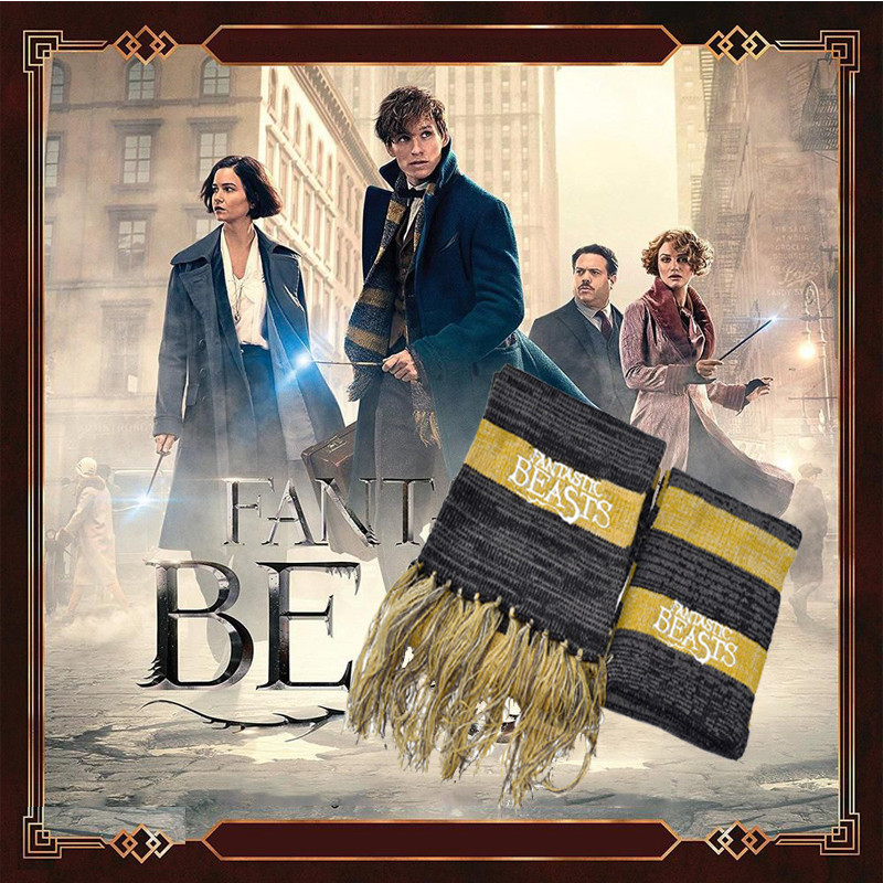 Men's Scarf Women Winter Fashion-Accessories And To Them Where Find Beasts Newt Scamander