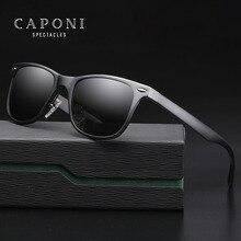 CAPONI Polarized Sunglasses For Men Aluminum Magnesium Oculos de sol Mens Square Driving Glasses Travel Sun 8559