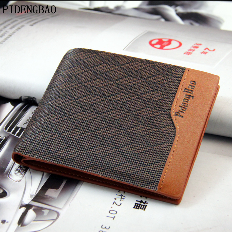 PIDENGBAO 2017 Men Wallet Short Skin Wallets Purses Splicing No Zipper Short PU Leather Money Clips Casual Solid Thin For Men huge stock super thin skin v loops toupee for men natural straight no knots hair pieces for men