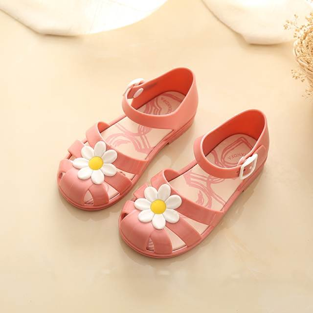 Mini Melissa Sandals Kids Girls Shoes Outsole Buckle Strap Sandals Children  Flower Heart Jelly Shoes Girls 5bb82d5a3b82