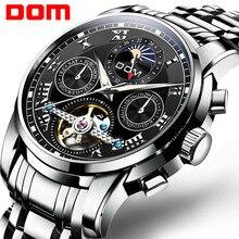 DOM yeni japonya mekanik İzle kol otomatik Mens Watch Top marka lüks rahat deri su geçirmez izle erkekler M 75D 1MH
