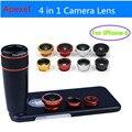 Teléfono con cámara de Lente con Zoom de 12X Teleobjetivo + Lente Gran Angular y macro + ojo de pez lente ojo de pez para iphone 6/6 s cubierta de la caja 12x85