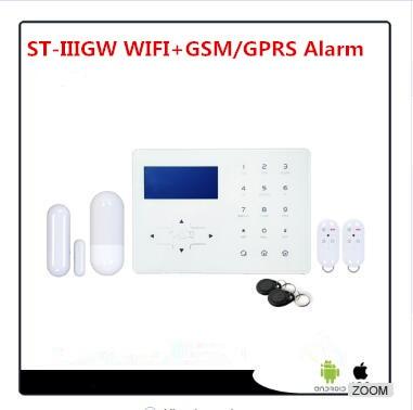 Самая передовая Wifi сигнализация GSM умная домашняя Автоматизация охранная сигнализация Wifi сигнализация с сенсорной панелью экрана