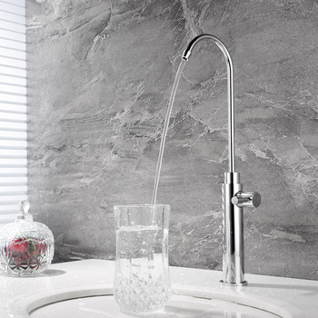 HIDEEP Kitchen Osmosis Drinking Water Filter Faucet Straight Drinking Water Dish Single Rotated Faucet Office Full Brass Round