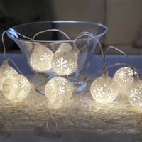 LumiParty 20LED Fairy Snow Ball Battery Operated LED String Lights Decoration For Christmas Party Home Decoration jk35