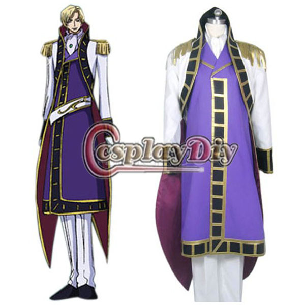 Nice Cosplaydiy Free Shipping Customized Code Geass Schneizel El Britannia Cosplay Costume Anime Cosplay Costume Anime Costumes