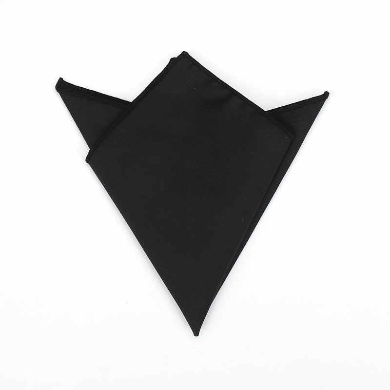 23 × 23 センチメートル男性のソリッドブラックカラー綿 100% ハンカチポケットスクエアの高級胸タオルスーツ Hankies パーティーギフトアクセサリー