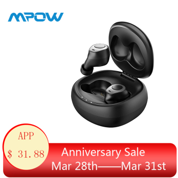 Mpow T3 Wireless Earbuds Earphone 25H Playing Waterproof HD Stereo Bluetooth 5.0 TWS Earphones With Noise Cancelling Microphones