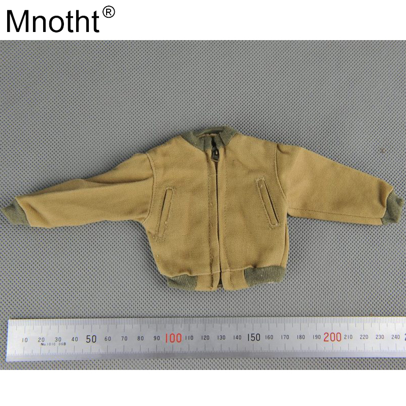 Mnotht 1/6 Soldier Clothes Model American Canvas Jacket WWII US Military Yellow Shirt Toy for 12'' Action Figure Collection 1 6 sovereign military knights of malta ancient medieval soldier action figure model collections