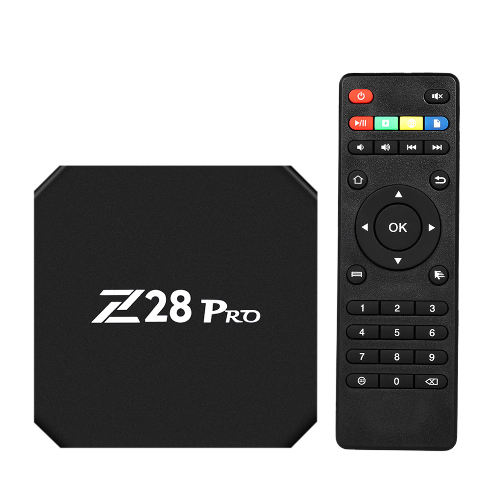 Z28 PRO Smart TV Box RK3328 Quad Core 64 Bit UHD 4K VP9 H.265 4GB / 32GB 2.4G / 5G BT4.1 HD WiFi Android 7.1 TV Box mxq pro rk3229 android 5 1 4k vp9 smart tv box