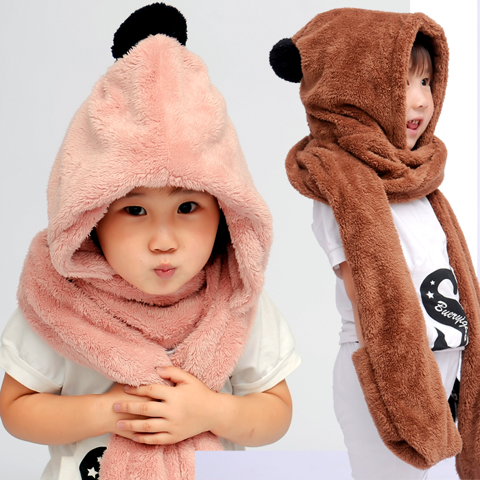 Autumn And Winter Children's Fashion Velet Parent-child Plus Velvet Child Scarf Hat Gloves Three Pieces Set Ear Protector