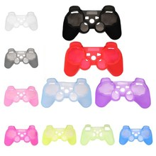 Brand New Multi-Colors Silicone Rubber Gamepad Protective Skin Cover Case for SONY for PlayStation 3 For PS3 Game Controller
