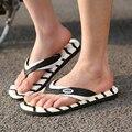 2015 Hombres sandalias de playa Casual zapatillas de verano, ocio Flip Flops Soft, EVA Masaje Beach Slipper tamaño grande Size39-45 el envío libre