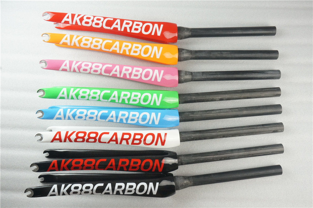 New AK88 Full carbon fiber road bike parts straight tube and cone tube 700CC front forkNew AK88 Full carbon fiber road bike parts straight tube and cone tube 700CC front fork