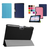 Ultra Slim Custer 3 Fold Folio Flip Stand PU Leather Skin Magnetic Cover Case For Acer