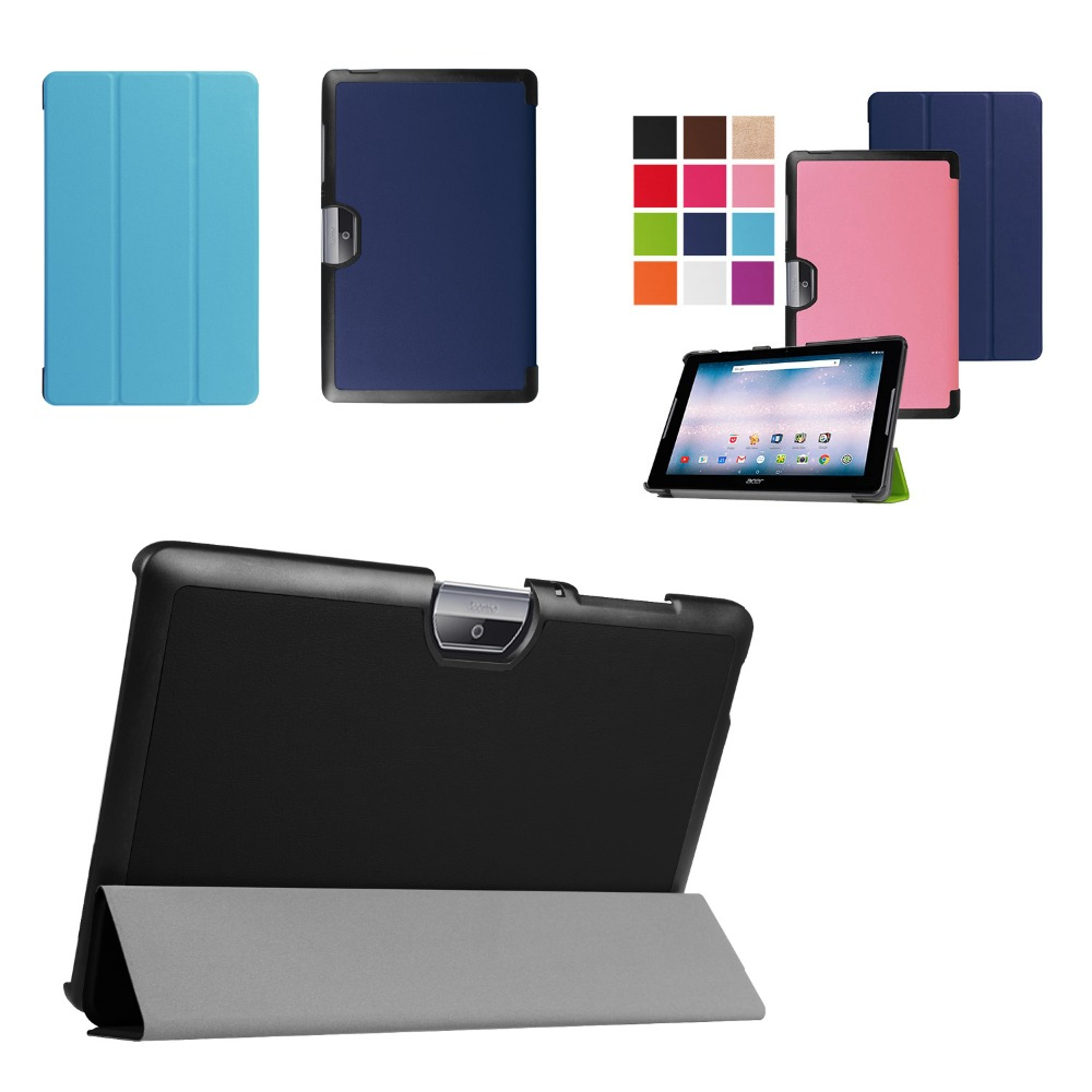 Ultra Slim Custer 3-Fold Folio Flip Stand PU Leather Skin Magnetic Cover Case For Acer Iconia One 10 B3-A30 B3 A30 10.1'' Tablet for nvidia shield tablet k1 custer voltage slim pu leather folding stand holster cover case free shipping