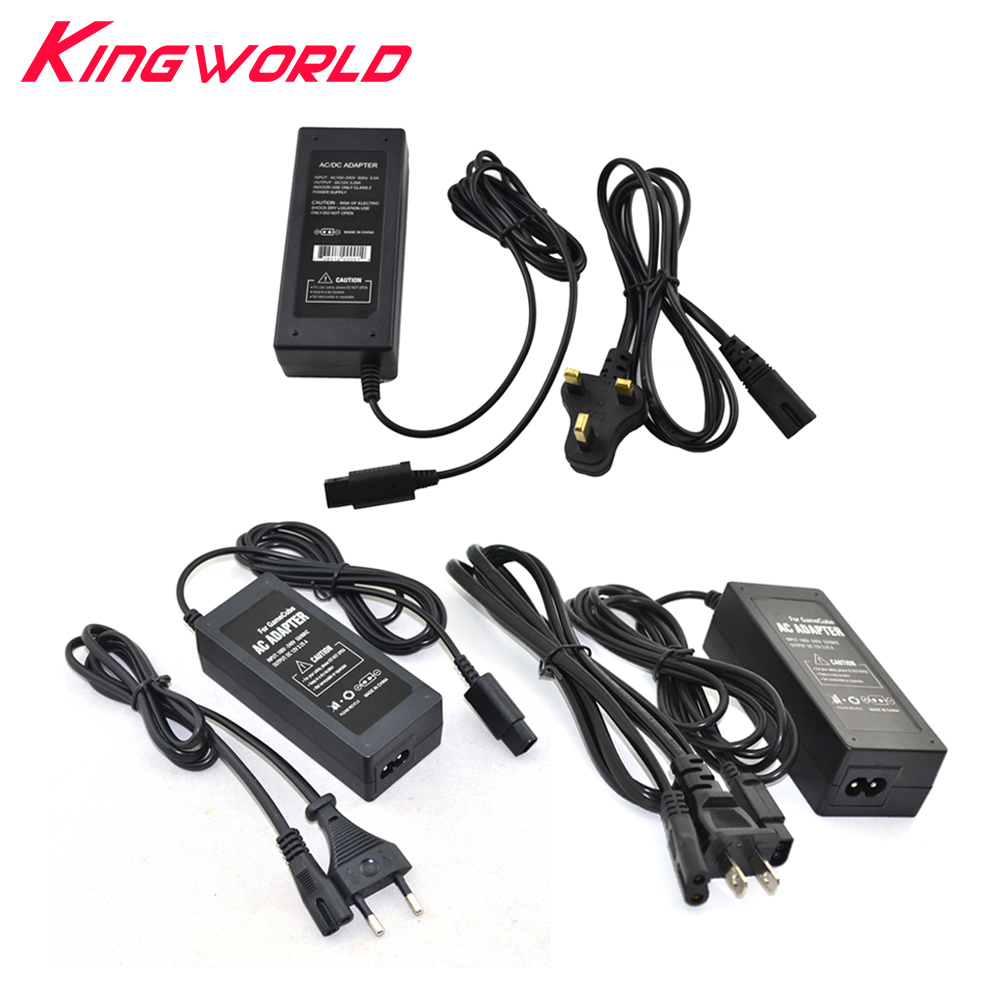 10sets US EU UK AU <font><b>Plug</b></font> AC adapter supply for G-amecube N-<font><b>GC</b></font> console with power cable image