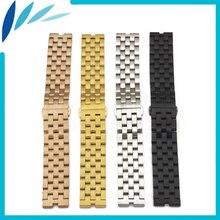 Aço inoxidável Watch Band 22mm para Motorola Moto 360 1 ° Gen 2014 Correia de Pulso Pulseira Cinto de Laço Preto Rosa de Ouro Prata