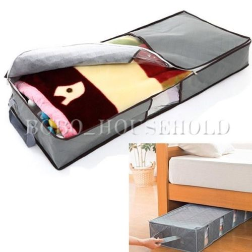 Home Cleaning Organizer 70L Duvet Non-woven Carpet Clothing Folding Pillow Large Quilt Storage Organizer Box Bag Clear