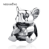 Original 100 925 Sterling Silver Beads Cute Elephant Animal DIY Crystal Bead Charms Fit Pandora Bracelets
