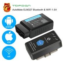TOPDON автоматический ELM327 Bluetooth wifi V1.5 pic18f25k80 OBD2 сканер автомобильный OBDII диагностический инструмент автоматический считыватель кода для IOS