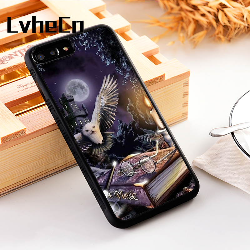 LvheCn 5 5S SE phone cover <font><b>cases</b></font> for <font><b>iphone</b></font> 6 6S 7 <font><b>8</b></font> Plus X Xs Max XR Soft Silicon TPU <font><b>HARRY</b></font> <font><b>POTTER</b></font> MAGIC image