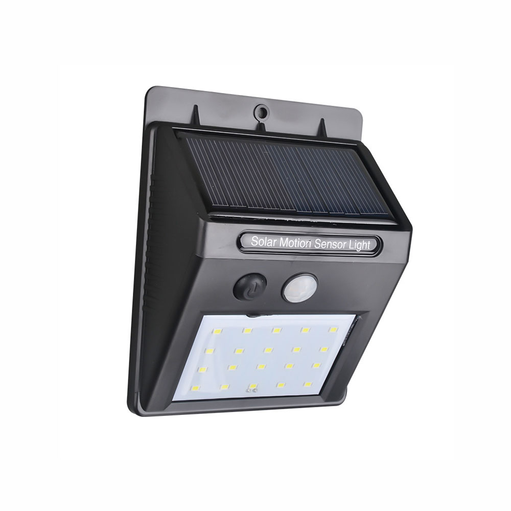 Wireless Solar Powered 20 LED Solar Light Waterproof IP65 PIR Motion Sensor Outdoor Fence Garden Light Pathway Solar Wall Lamp youoklight 0 5w 3 led white light mini waterproof solar powered fence garden lamp black