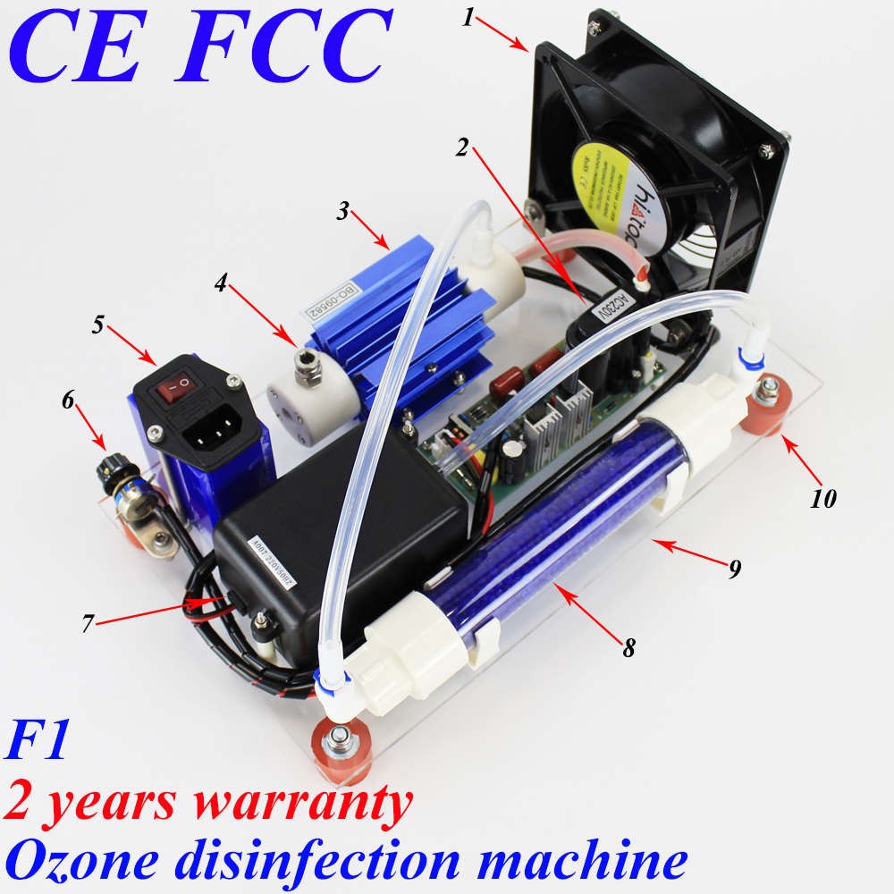 Pinuslongaeva CE EMC LVD FCC 10 g/h 10 grammes F1 simple d'ozone air et l'eau désinfection machine générateur d'ozone