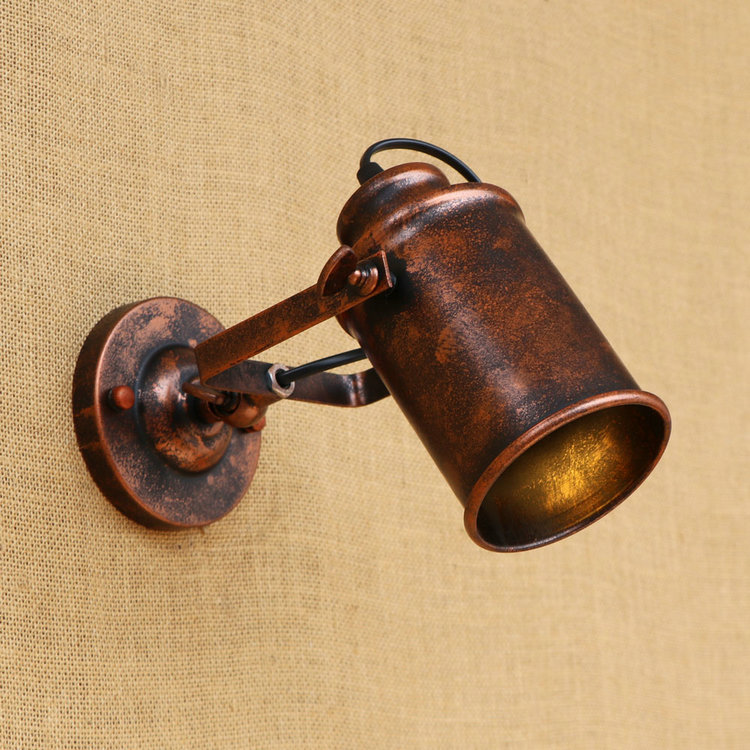 Loft retro iron shade adjustable swing arm wall <font><b>lamp</b></font> Sconces Home Lighting Fixture For Bedroom Beside bed Industrial <font><b>Edison</b></font> Bulb