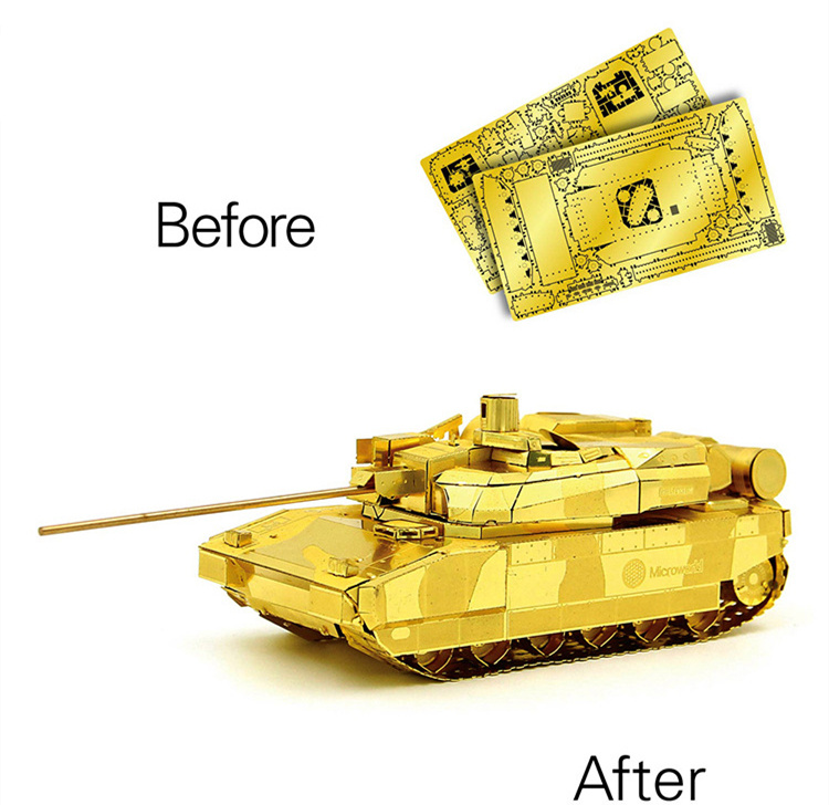 Leclerc Main Battle Tank Fun 3d Metal Diy Miniature Model Kits