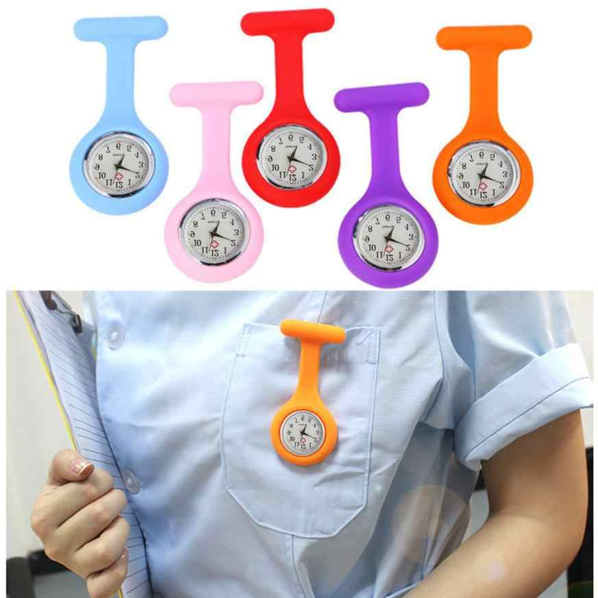Silicone Nurse Watch Brooch Tunic Fob Watch With Free Battery Doctor Medical  Free Shipping #Y502