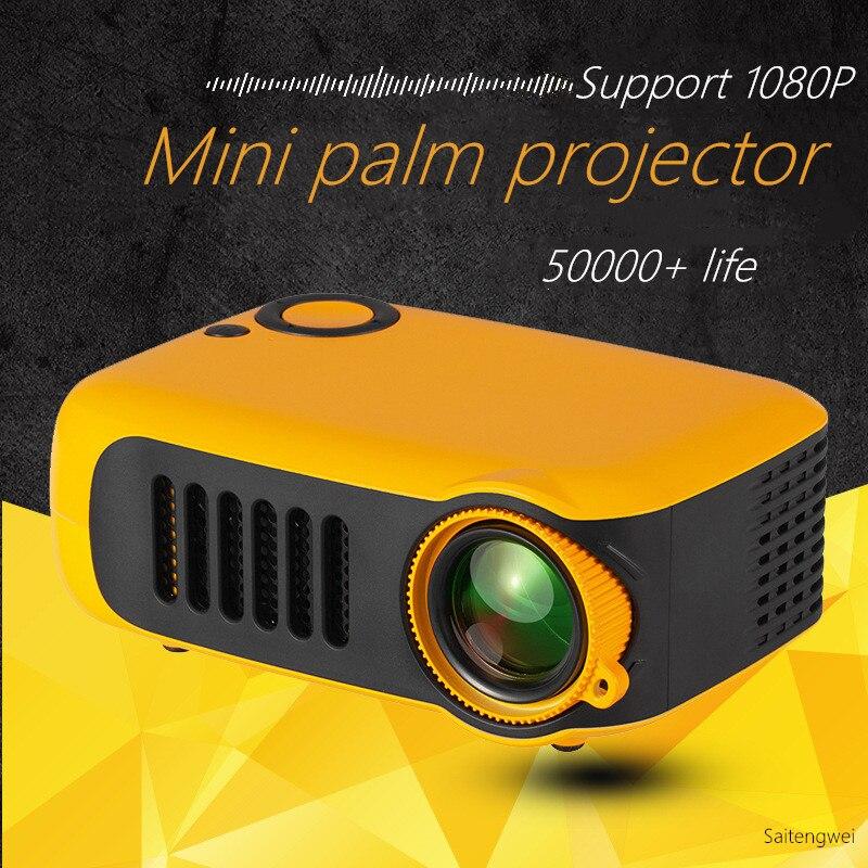 Mini projecteur portatif d'affichage à cristaux liquides de poche 1080p Mini projecteur Mobile d'image de 80 pouces pour des enfants prend en charge le Micro SD USB de HDMI