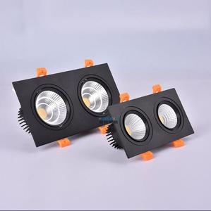 black double 1Pcs 2x5W 2x7W 2x9W 2x12w AC85V-265V LED dimmable Ceiling cob Downlight Recessed LED Wall lamp Spot light