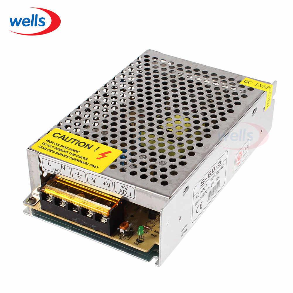 5 V 12A 60 W adaptateur secteur Ac dc 110 V/220 V commutation LED d'alimentation pilote transforme pour LED bande de lumière CCTV PSU livraison gratuite