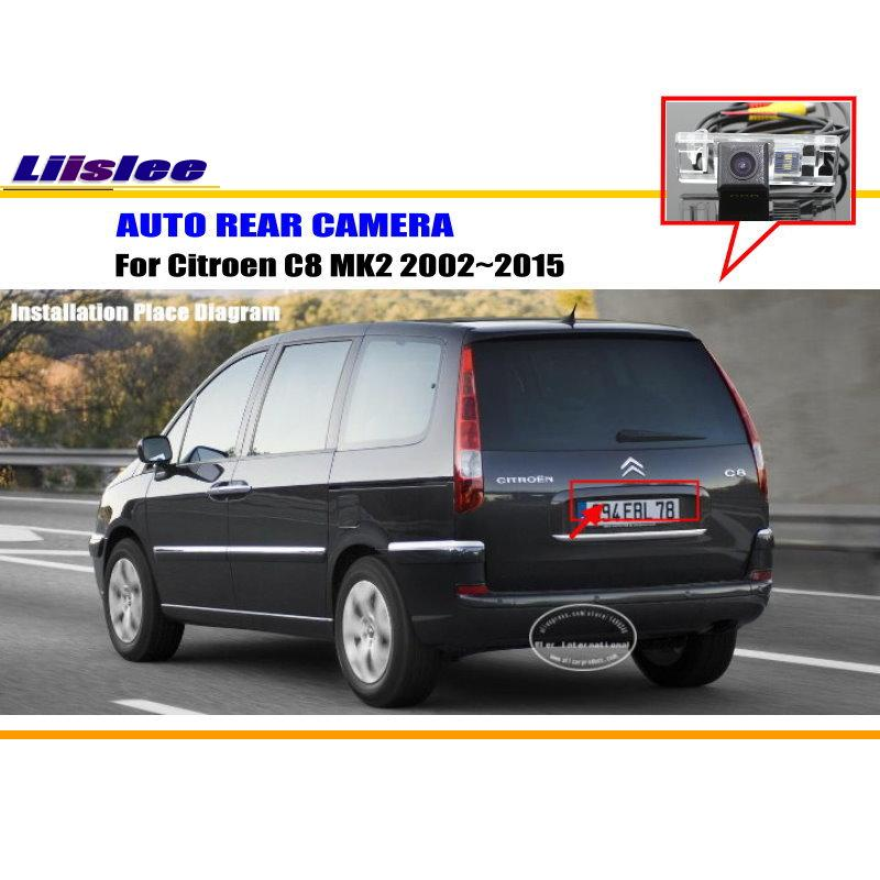 Car Camera For Citroen C8 MK2 2002~2015 / Rear View Camera / HD CCD RCA NTST PAL / License Plate Light Camera