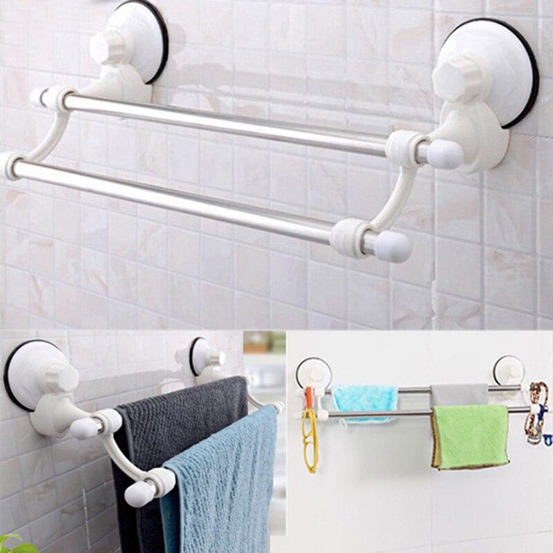 Mayitr Dual Layer Suction <font><b>Towel</b></font> Rack Stainless <font><b>Steel</b></font> Wall Mount Bathroom <font><b>Towel</b></font> Holder Rack Rail Shelf Bathroom Accessories