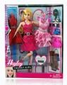 Оптовая рождественский подарок 1 шт. новая Мода игрушка Пластиковые куклы платье костюм обувь сумка аксессуары для куклы барби игрушки