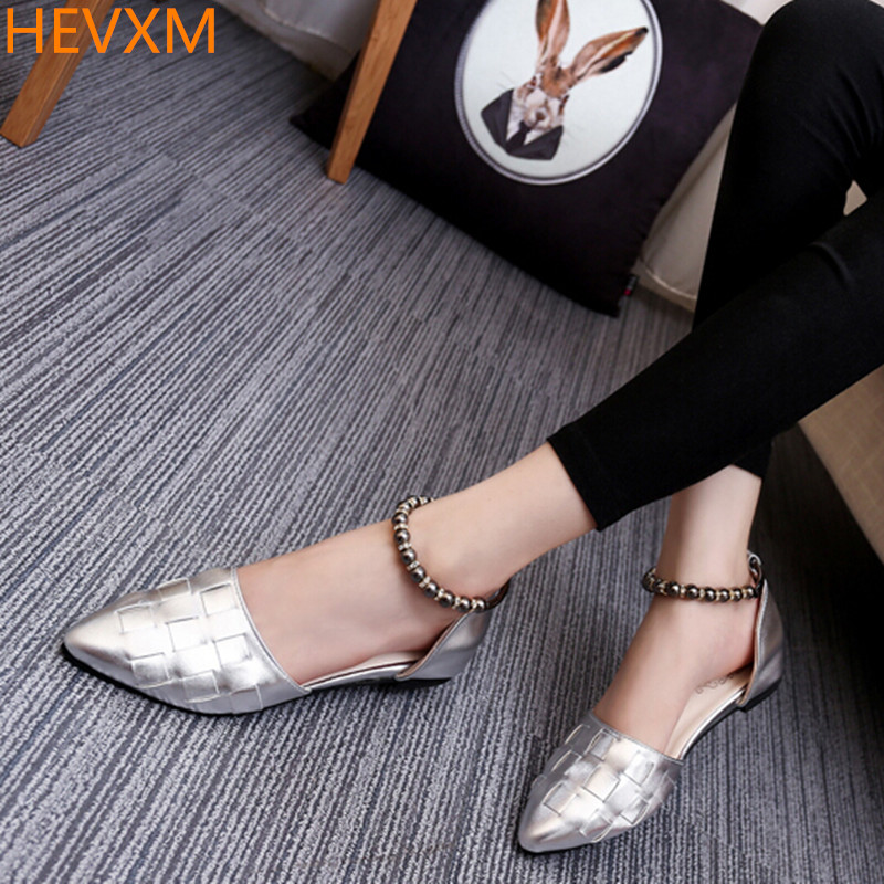 HEVXM 2017 spring summer new ladies fashion was thin pointed shallow mouth sweet flat shoes college wind students shoes shoes new 2017 spring summer women shoes pointed toe high quality brand fashion womens flats ladies plus size 41 sweet flock t179